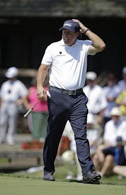 Phil Mickelson said he has done nothing wrong in relation to the FBI's insider trading probe. (AP)