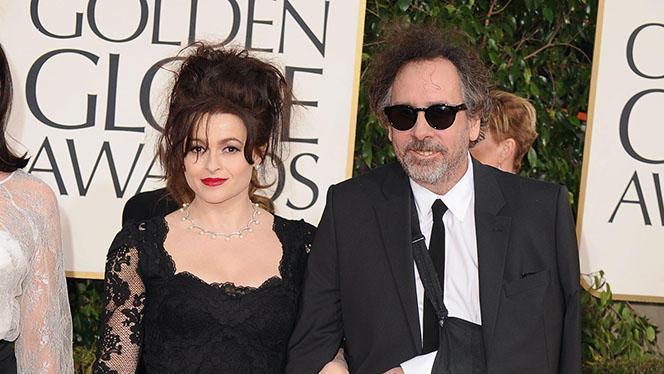 70th Annual Golden Globe Awards - Arrivals: Helena Bonham Carter and Tim Burton