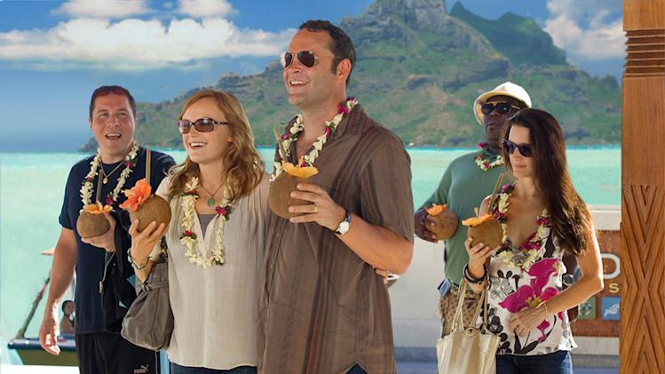 Jon Favreau Malin Akerman Vince Vaughn Kristin Davis Faizon Love Couples Retreat Production Stills Universal 2009