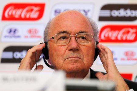 File photo of FIFA President Sepp Blatter attending a media briefing in Rio de Janeiro