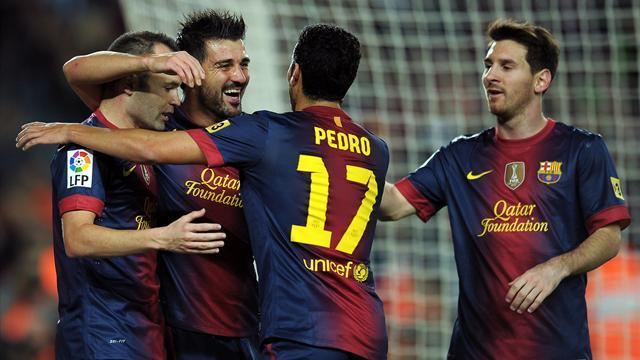 Liga - Messi in scare as Barcelona beat Celta