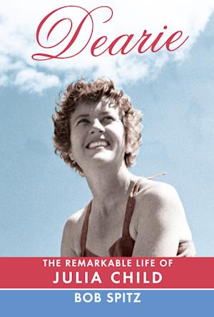 """This book cover image released by Alfred A. Knopf shows """"Dearie: The Remarkable Life of Julia Child"""" by Bob Spitz. (AP Photo/ Alfred A. Knopf)"""