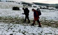 Snow Falls Across Swathes Of Britain Overnight