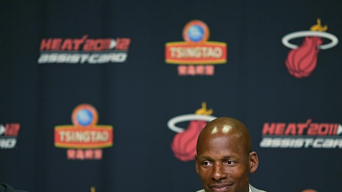 Miami Heat Introduce Ray Allen