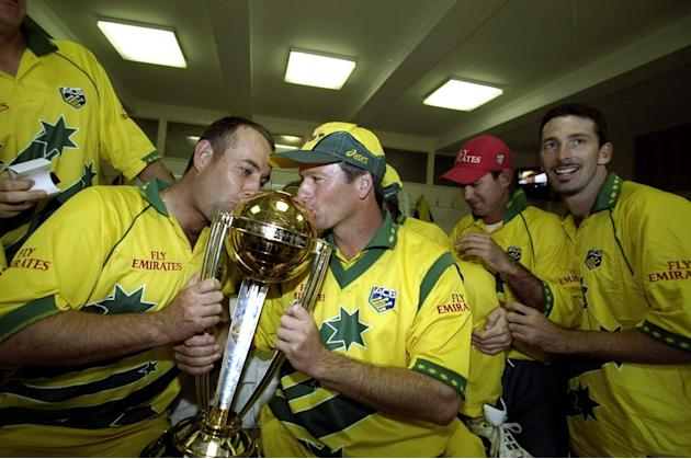 Darren Lehmann and Steve Waugh