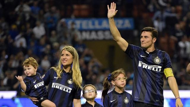 Serie A - Zanetti says emotional farewell to San Siro