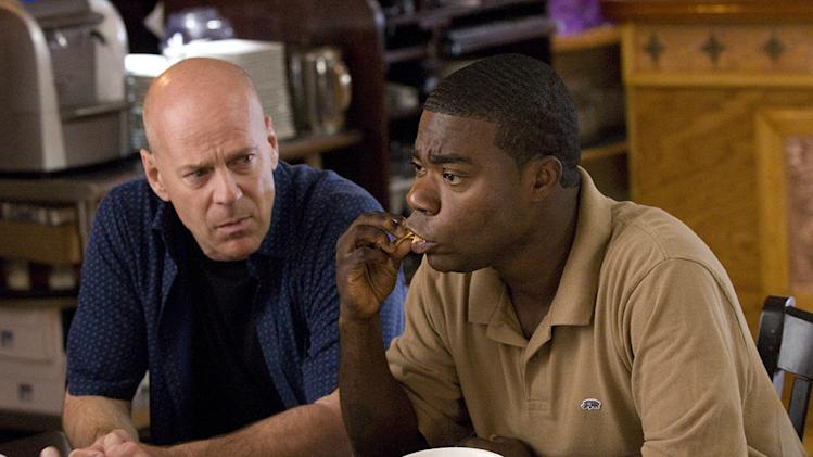 Cop Out 2010 Warner Brothers Production Photo Bruce Willis Tracy Morgan