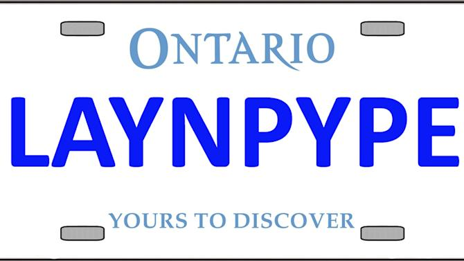 Vanity plates Ontario says you're not allowed to have
