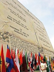 Theworld's largest tablet of the ten commandments supposedly handed down by God to Moses on Mount Sinai was inaugurated by city officials on a hill overlooking the northern Philippines resort city of Baguio