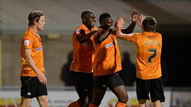 Wolves oust Northampton in League Cup