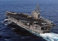 An image released by the US Navy Visual News Service on March 12, 2011 shows the USS Ronald Reagan aircraft carrier near Japan, in support of earthquake and tsunami relief efforts. Eight US Navy sailors, who were aboard the ship, are suing Tokyo Electric Power Company (TEPCO) for hundreds of millions of dollars over allegations the Japanese firm lied to them about radiation dangers