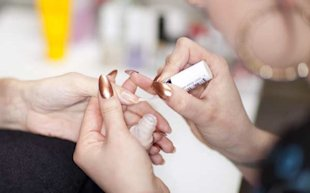 Manicurist Jenny Longworth Demonstrates How to do a Diamond Jubilee Manicure