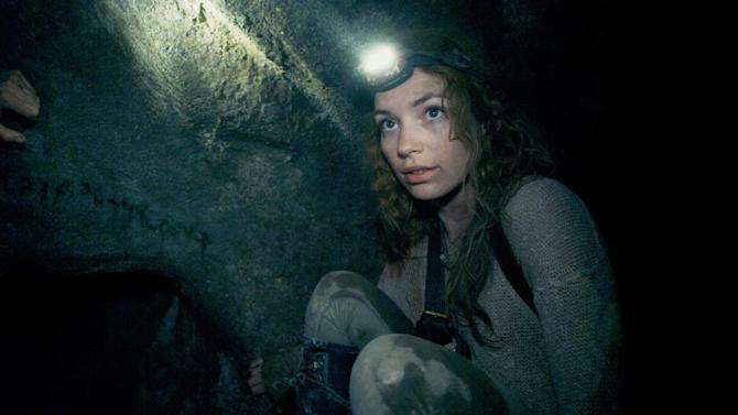 "This image released by Universal Pictures shows Perdita Weeks in a scene from the film, ""As Above, So Below."" (AP Photo/Universal Pictures)"