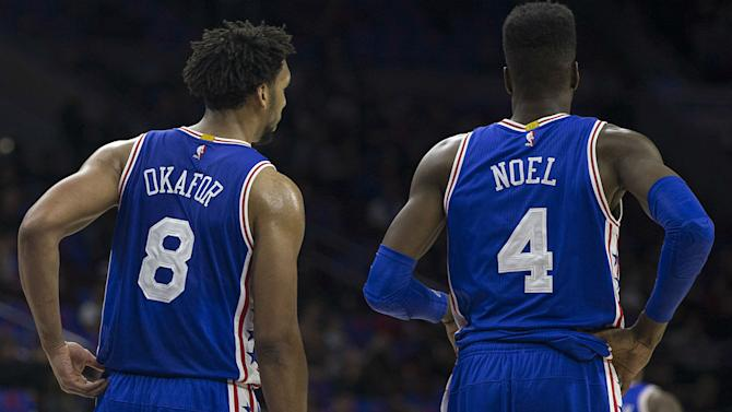 Sixers expecting to trade Nerlens Noel or Jahlil Okafor, report says