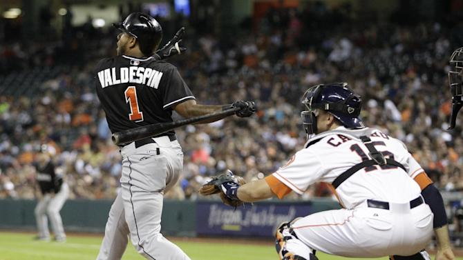 Stanton, Valdespin power Marlins over Astros 7-3