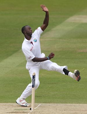 West Indies bowler Kemar Roach picked up four New Zealand wickets