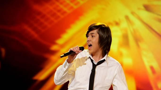 Danny Noriega performs as one of the top 24 contestants on the 7th season of American Idol.