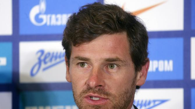 Zenit St.Petersburg's new head coach Villas-Boas speaks during a news conference in St.PetersburgE