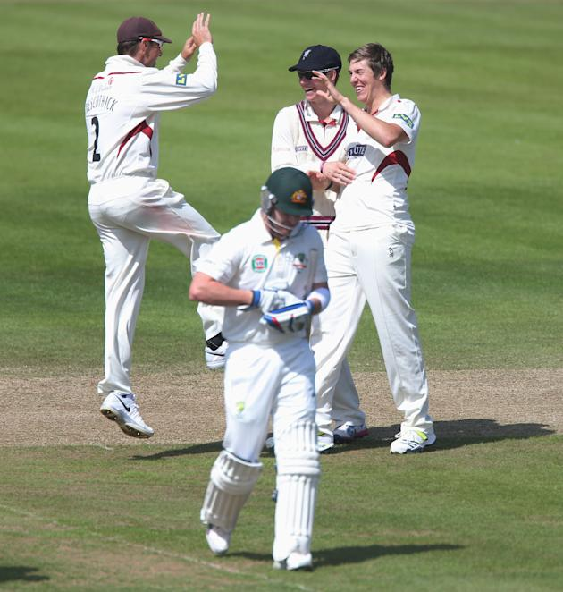 Cricket - International Tour Match - Somerset v Australia XI - Day Three - The County Ground
