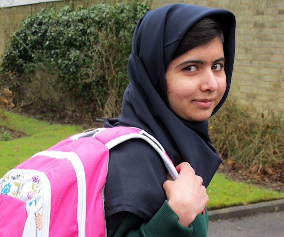 Pakistani schoolgirl Malala Yousafzai is shown in Birmingham, England, on March 19, 2013. She has returned to school for the first time since being shot in the head by the Taliban in October 2012 for campaigning for girls' education