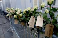 White roses tagged with the names of those killed by Anders Behring Breivik are placed outside the Oslo court during the trial of the right-wing extremist, who killed 77 people in July last year. A court on Friday found him to be criminally responsible for his actions and sentenced him to 21 years in jail, which can be extended indefinitely