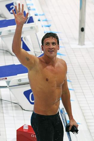 Ryan Lochte of the United States after winning Gold in the Final of the Men's 400m Individual Medley on Day 1 of the London 2012 Olympic Games at the Aquatics Centre on July 28, 2012 -- Getty Images