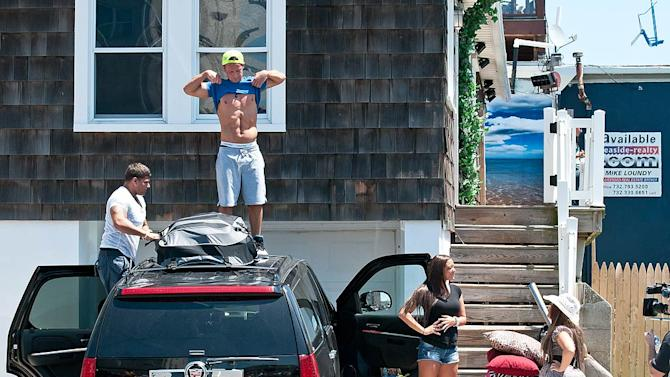 Jersey Shore Cast Camping