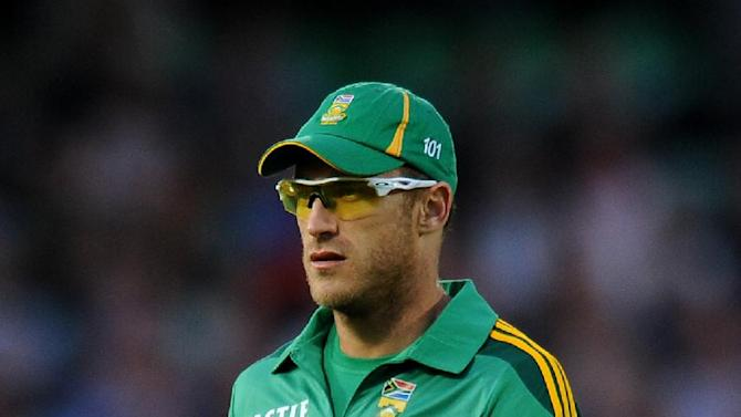 Faf du Plessis, pictured, will replace the injured JP Duminy for South Africa