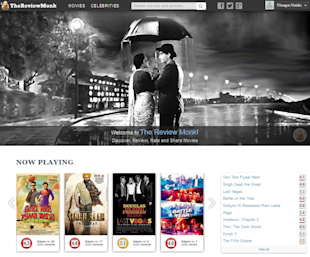The Review Monk Lets You Discover, Review, Rate And Share Movies image TheReviewMonk homepage