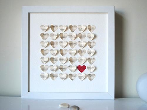 Personalized Song Hearts