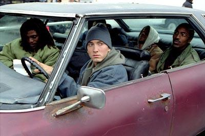 Mekhi Phifer , Eminem , Evan Jones and De'Angelo Wilson in Universal's 8 Mile