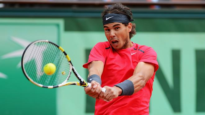 Rafael Nadal Of Spain Plays Getty Images