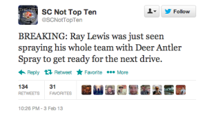 Post Super Bowl Social Media Analysis Looks at Ray Lewis' Legacy image Screen Shot 2013 02 05 at 2.24.06 PM