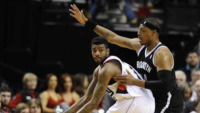 Barton sparks Blazers to 124-80 rout of Nets
