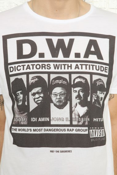 """This """"Dictators With Attitude"""" T-shirt is selling on Urban Outfitters' U.K. website. (UrbanOutfitters.co.uk)"""