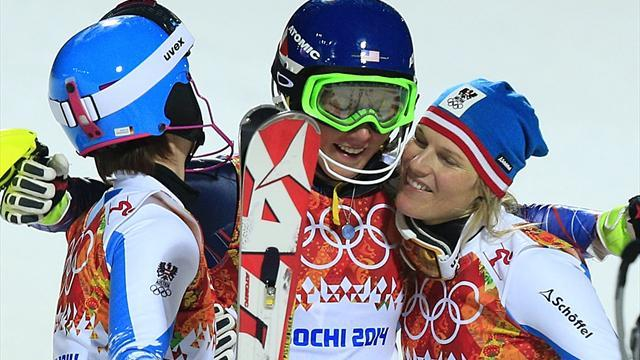 Alpine Skiing - Teenage star Shiffrin takes slalom gold in Sochi