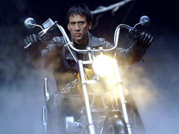 Nicolas Cage as Johnny Blaze in Columbia Pictures' Ghost Rider