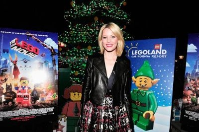 Carlsbad, CA - Elizabeth Banks lights the world's largest LEGO® tree at LEGOLAND® California Resort.