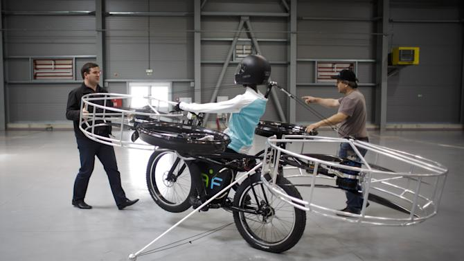 Flying Bike First Public Flight