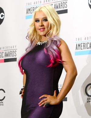 Christina Aguilera is seen during the 40th Anniversary American Music Awards nominations press conference in Los Angeles on October 9, 2012 -- Getty Images