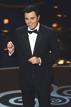 Seth MacFarlane speaks onstage during the Oscars held at the Dolby Theatre on February 24, 2013 in Hollywood, Calif. -- Getty Images