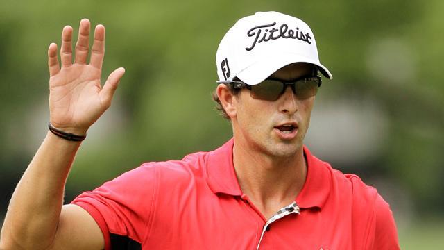 Golf - Adam Scott joins Oosthuizen in China lead