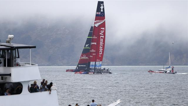 Sailing - New Zealand again denied Cup victory by fluky winds