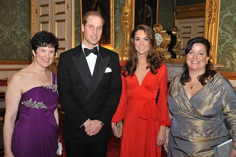 Prince William and Catherine at charity dinner in October.