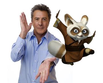 Dustin Hoffman is the voice of Shifu in DreamWorks Animation's Kung Fu Panda