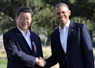 US President Barack Obama shakes hands with Chinese President Xi Jinping before their bilateral meeting at the Annenberg Retreat at Sunnylands in Rancho Mirage, California, on June 7, 2013. Obama and Xi opened their crucial first summit, calling for a new approach to relations between the US superpower and China, the rising giant