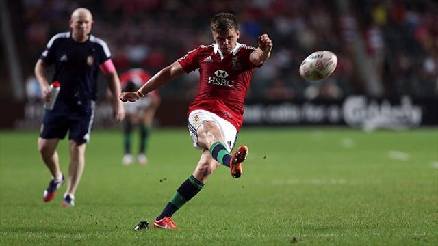 Lions Tour - Farrell kicks Lions to win over adventurous Reds