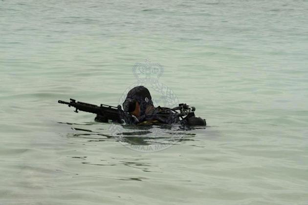 Pics: Malaysian forces on high alert