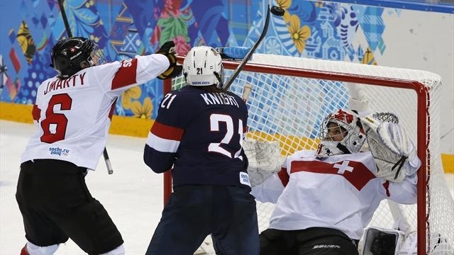 Ice Hockey - US women romp past Swiss to reach Sochi semis