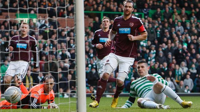 Football - Celtic break Hearts